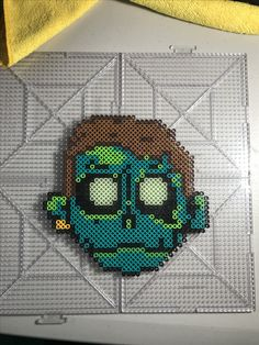 Zomboy Perler Beads Pattern Raving Kandi Kandi Patterns, Pearler Bead Patterns, Perler Patterns, Pearler Beads, Beading Patterns, Rave Candy, Artist Logo, Perler Bead Art, New Crafts