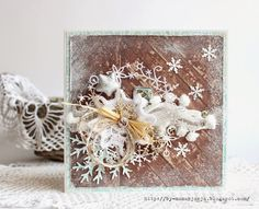 nice tutorial fo this one..love the twisted cheesecloth and pompom yarn...
