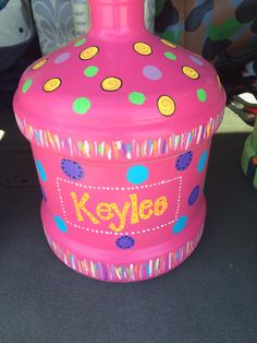 After 5 Gallon Water Jug To Childs Money Bank Reuse