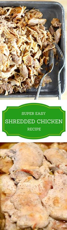 The low-carb shredded chicken can be used for so many recipes: tacos, wraps, chicken soup or salad, fajitas, quesadilla, paprikash, sandwiches, even pizza... Wow! It is easy to make and freezes extremely well. When you need shredded chicken just move it from the freezer to the fridge and cook it the next day. I use boneless skinless chicken thighs; they are incredibly tasty and cheap. The chicken is braised, seasoned and then baked for an hour for a delicious gluten-free outcome. You'll love…