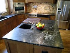 Honed Slate Countertop Countertops Nonporous And Virtually Maintenance Free Scratches Can Be Buffed Out With Steel Wool Has A So