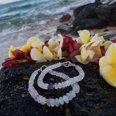 Moonstone Boho Bracelet / Rainbow Moonstone/ by angelovajewelry
