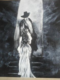 Phantom of the Opera 2 by Libbygreenart on Etsy,