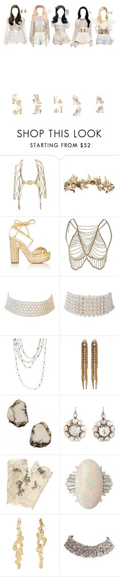 """(Melody) Sweet Dreams at Kcon Ny"" by k-p0p101 ❤ liked on Polyvore featuring Ulyana Sergeenko, Zana Bayne, Alexander McQueen, Dolce&Gabbana, Alchimia Di Ballin, Marina J., Sidney Garber, Erickson Beamon, Siman Tu and Olivia Collings Antique Jewelry"
