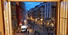 Innsbruck by night: view from the Golden Roof Innsbruck, Austria, Times Square, Night, Travel, Voyage, Viajes, Traveling, Trips