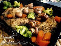 Fűszeres csirkecombok velesült zöldségekkel Pot Roast, Dinner, Ethnic Recipes, Food, Carne Asada, Dining, Roast Beef, Food Dinners, Essen