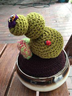 Amigurumi cactus crochet cactus mix in decorative pot