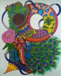 Peacock! Flower Alphabet, Peacock, Flowers, Art, Art Background, Kunst, Peacocks, Performing Arts, Royal Icing Flowers
