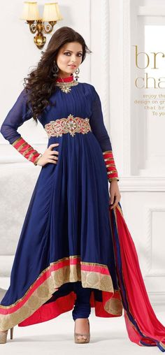 #Shop the #latest and #exclusive #madhubala #Royal #blue #anarkali #suit from nallucollection.com and flaunt your #appealing #appearance.
