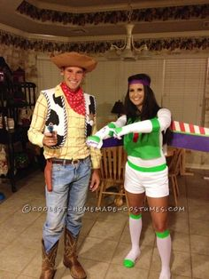 Coolest and Most Believable Homemade Woody and Buzz Lightyear Costumes...