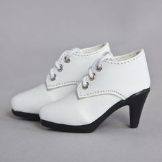 [wamami] 33# White Shoes For 1/4 MSD DOD AOD LUTS BJD Dollfie High Heels Shoes