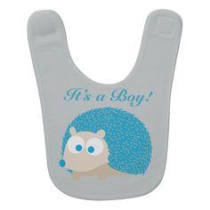 It's a Boy! Hedgehog Bib