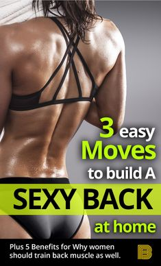 Ultimate Back Workout Plan: Home Back Workout - The Hust Back Workout At Home, Back Workout Women, Fitness Workout For Women, Health And Fitness Tips, Hard Workout, Back Exercises, Going To The Gym, Fitness Motivation, Fitness Goals