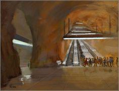 Digital sobre óleo  90/120 cm Interior, Painting, Travel, Artists, Art, Indoor, Design Interiors, Paintings, Draw