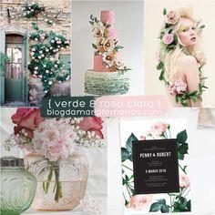 Decoração de Casamento : Paleta de Cores Verde e Rosa Claro | Blog de Casamento DIY da Maria Fernanda