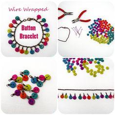 Come fare braccialetto con bottoni