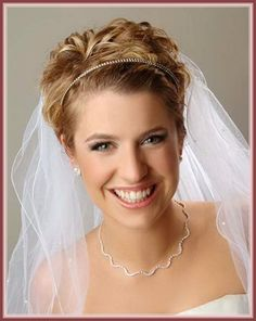 wedding hairstyles for very short hair - Google Search