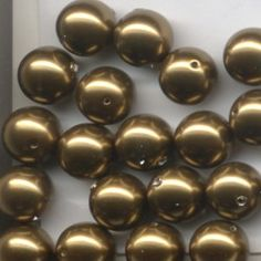 3mm Swarovski Pearl Antique Brass