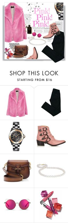"""""""Rosa pra Causar"""" by railda-pereira ❤ liked on Polyvore featuring J.Crew, Comptoir Des Cotonniers, Chanel, Toga, Gucci, Blue Nile, Matthew Williamson, Clinique, Pink and black"""