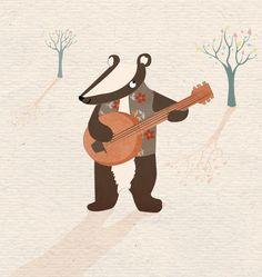 Charming Children's illustration, paper cutting, by Sarah Dennis