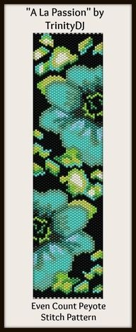 Peyote Beadwork Patterns Free Printable | free bead designs peyote - Google Search | Beaded treasures