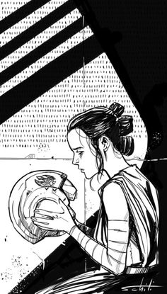 valerioschiti: Star Wars: The Force awakens: Rey