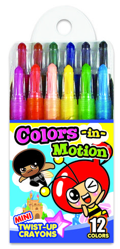 12 Mini Colors in Motion crayon