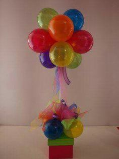 Centro de mesa globos