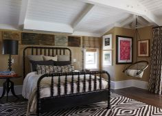 taupe, chocolate, & white color scheme & mix of textures creates comfortable ambiance -- Santa Barbara Design House and Gardens Showhouse - Traditional Home Neutral Bedrooms, Guest Suite, New Room, Santa Barbara, Traditional House, Bed Spreads, Country Decor, Architecture Design, New Homes