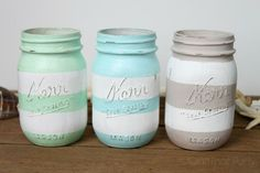 Use sandpaper to lightly distress the raised letters on the jar and anywhere else you may like. Description from craftthatparty.blogspot.com. I searched for this on bing.com/images