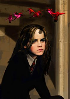 Lavender Brown's unexpected effect on Hermione - Pottermore Harry Potter Drawings, Harry Potter Books, Harry Potter Fan Art, Harry Potter Characters, Lavender Brown, Dramione, Half Blood, Hermione Granger, Fantastic Beasts