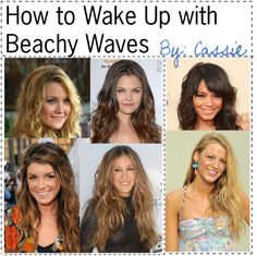 """How to Wake Up with Beachy Waves;"" by the-amazing-tip-chickas on Polyvore"
