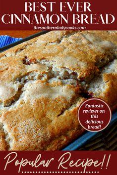 Best Grill Recipes, Grilling Recipes, Fall Recipes, Bread Recipes, Cooking Recipes, Picnic Potluck, Gourmet Cooking, Cinnamon Bread, Loaf Cake