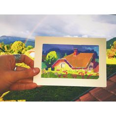 My favorite color is rainbow. Gabriela Figueroa (at Annecy, French Alpes) - Gouache Color, Gouache Painting, Painting Inspiration, Art Inspo, Fruit Painting, Rainbow Painting, Gouache Tutorial, Guache, Painting People