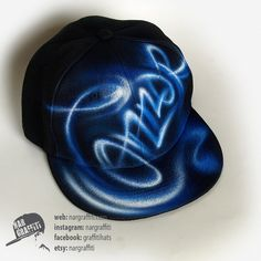 YOUR NAME graffiti airbrush painted on the unisex SNAPBACK Hat Baseball Cap  Best… Christmas Gifts For BoysSnapback ... 2be4910693ce