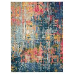 Celestial Blue and Yellow Rug   Dunelm