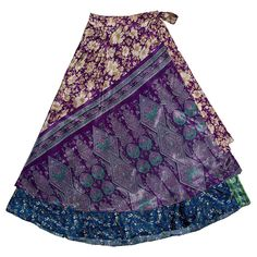 Long Magic Skirt Silk Sari Wrap Skirt assorted colors and patterns can be wrapped countless ways Available at The Village Emporium in Bar Harbor Maine