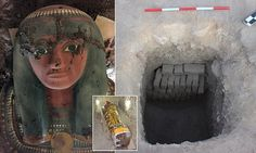 The mummy in a brightly coloured wooden sarcophagus, in a tomb dating from between 1075-664 BC, was found on the west bank of the Nile river 435 miles south of Cairo.