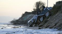 A tidal surge has hit coastal towns along the east coast of Britain after thousands of homes were evacuated. Here collapsed houses lie on the beach in Hemsby. Thames Barrier, Man Vs Nature, Sea Storm, Flood Risk, Storm Surge, Sea Level Rise, Extreme Weather, Extreme Heat, The Guardian