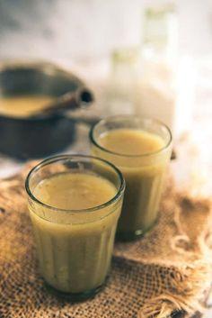 Bajre ki Raab or Raabdi is a warm, soothing soup made using bajra flour, dry ginger powder, jaggery, ajwain and loads of ghee in Rajasthan and Gujarat. Here is how to make Bajre ki Raab Recipe. Gujarati Recipes, Indian Food Recipes, Vegetarian Recipes, Punjabi Recipes, Gujarati Food, Healthy Recipes, My Recipes, Favorite Recipes