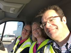 David, Sarah and Jon - off to Bristol to decorate Christmas trees