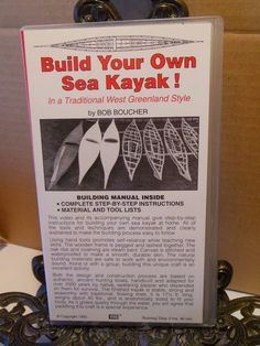 Build Your Own Sea Kayak Video~Woodworking How To~Boucher~Greenland Style~VHS…
