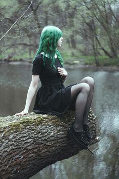 Goths on trees, funny and strangely popular idea.