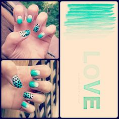 chocoocupcakee on Instagram has some teal and green L.O.V.E. for you. And we L.O.V.E. this design.