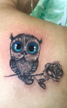 Baby Owl Tattoos, Cute Owl Tattoo, Owl Tattoo Small, Elephant Tattoos, Mom Tattoos, Cute Tattoos, Body Art Tattoos, Small Tattoos, Owl Tattoo Drawings