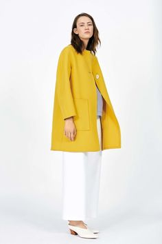 Piazza Sempione Resort 2017 Collection Photos - Vogue ...our Car Coat style in mustard, love it worn with white pants...
