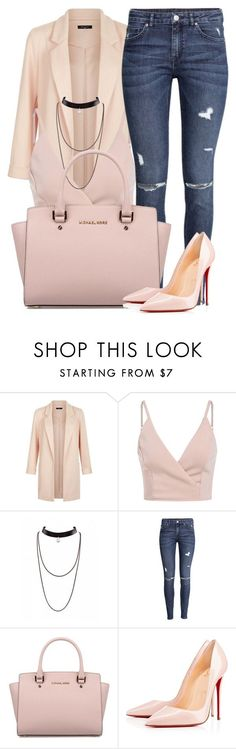 """Untitled #26"" by bonbonkabengele on Polyvore featuring New Look, H&M, Michael Kors and Christian Louboutin"