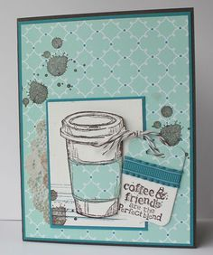 My one card uses Early Espresso, Island Indigo and Pool Party. The second card is Coastal Cabana, Crushed Curry and Early Espresso....love the final look of this one (I'll admit I was a little nervous!). The stamps on this card are Perfect Blend and none other than the amazing Gorgeous Grunge