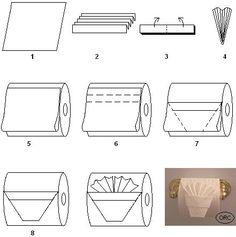 toilet paper origami http://media-cdn.pinterest.com/upload/212584044880743645_zqyYYvJY_f.jpg dlsutherland clever ideas