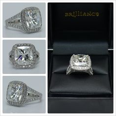 """Want to WIN up to $3000 towards creating your dream engagement or wedding ring? Get ready to say """"I Do!"""" with this stunning custom design giveaway from the experts at Brilliance!  Join the sweepstakes here:  http://blog.brilliance.com/contest/custom-ring-contest  (In photo: The Custom Diamond Halo Split Shank Ring in Platinum; $4,950 -- center stone not yet included)"""